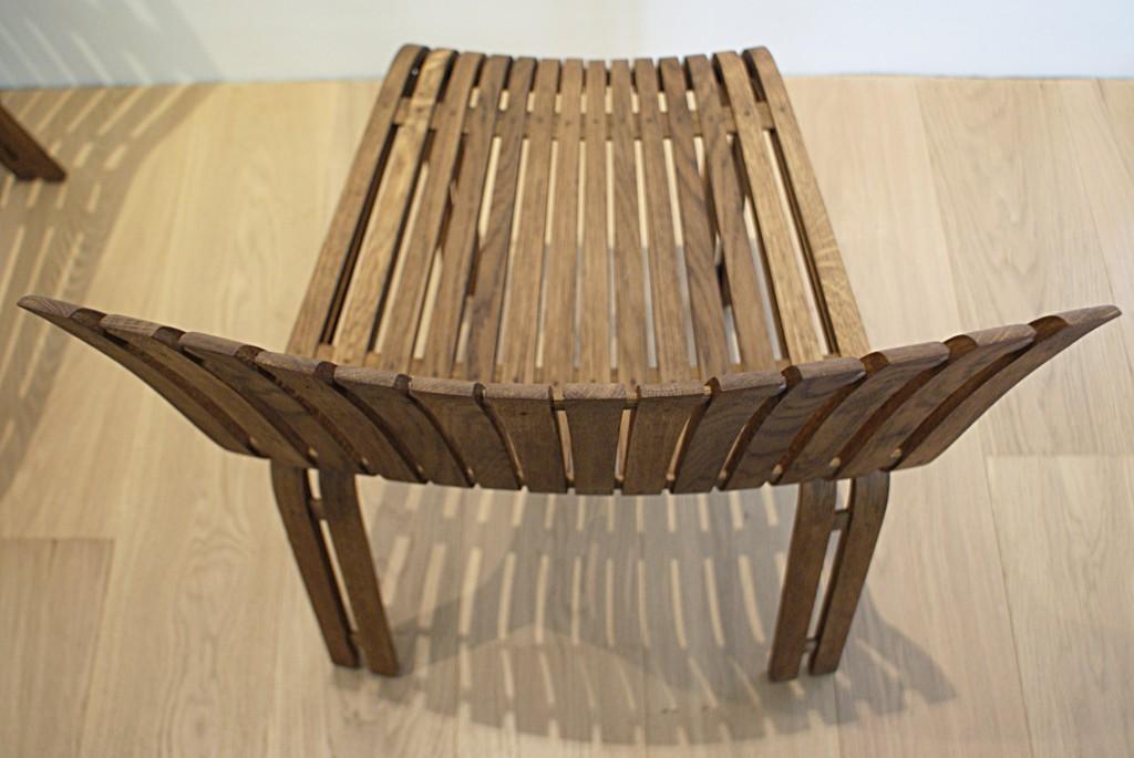 Chaises en chêne cintré à l'étuve